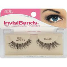 """These are great cause they are just like the """"wispies"""" but in a """"demi"""" version that is shorter and not so dramatic. Love these. My favorite brand is Ardell all the way, but when ya gotta save money, one of my other pins will do just fine. :)   Ardell InvisiBands Lashes, Demi Whispies Black"""