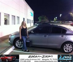 #HappyAnniversary to Holley Clark on your 2013 #Mazda #Mazda3 from Jim Klick at Mazda of Mesquite!