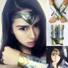as the picture Material: Soft rubber material Size: one size (Adjustable size, suitable for most peopleH Girl Superhero Costumes, Super Hero Costumes, Girl Costumes, Easy Anime Cosplay, Anime Cosplay Costumes, Cosplay Ideas, Wonder Woman Halloween Costume, Black Snapback Hats, Wonder Woman Party