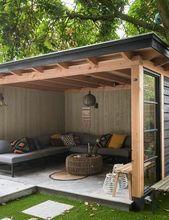 Pergola Videos Terrasse Beton - - - Pergola Ideas On A Budget Privacy Screens - Pergola Patio Restaurant - Pergola Garden, Patio Gazebo, Backyard Patio Designs, Outdoor Pergola, Pergola Designs, Backyard Landscaping, Pergola Ideas, Pergola Kits, Modern Pergola