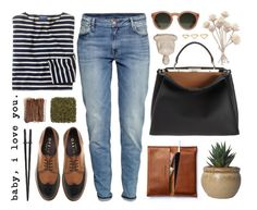 """""""brownie"""" by just-nothing ❤ liked on Polyvore featuring H&M, J.Crew, Fendi, Office, GANT and Ana Khouri"""
