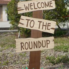 Toy Story Sign Birthday Welcome To The Roundup Standing Sign Western Birthday Decoration, Cowboy Cowgirl Party Rodeo Party, Cowboy Theme Party, Cowboy Birthday Party, Picnic Birthday, 3rd Birthday, Cowboy Party Decorations, Birthday Games, Cowgirl Party Games, Birthday Decorations