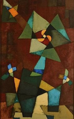 """Megánthemum"" by Paul Klee. I don't really like this piece, as the colours look really dull. I don't think the brown works well with the dark green. Although, I really do like the placement of the shapes, as they look very aesthetically pleasing. Wassily Kandinsky, Abstract Expressionism, Abstract Art, Abstract Paintings, Oil Paintings, Painting Art, Watercolor Painting, Watercolor Artists, Painting Tips"