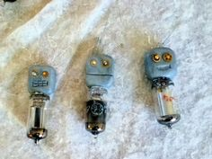 set of 3 Robot vacuum tube Christmas Ornaments by KikisCollections