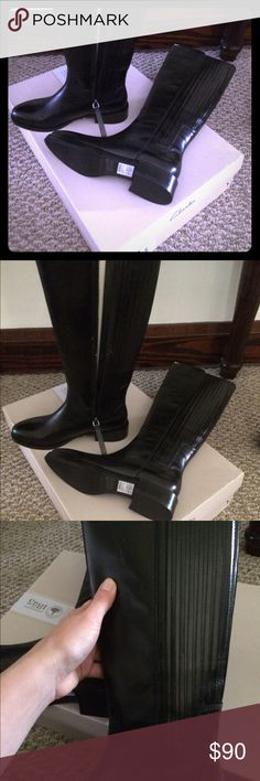 14edbc39 Brand new Clarks must have Black riding Boots Brand new in the box never  worn leather