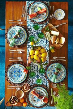 This gorgeous Moroccan take on summer has me right at the head of this table...in my dreams
