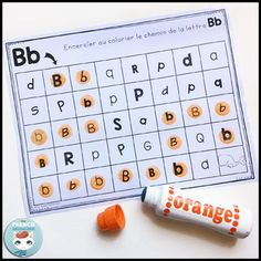 French Alphabet Centers - centres de littératie - For French Immersion French Alphabet, Letter Maze, French Flashcards, French Worksheets, French Lessons, Spanish Lessons, Teaching French, Teaching Spanish, French Immersion
