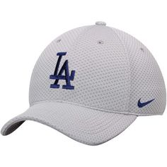 Men s Los Angeles Dodgers Nike Gray Mesh Logo Performance Adjustable Hat 2a15c93fe