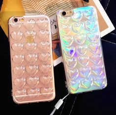 Phone Case Cover Soft TPU Silicone For iPhone 6 6s Plus 3D loving heart laser…