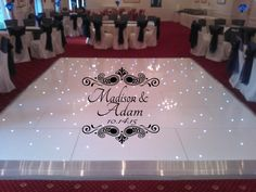 HUGE 8 foot Damask Theme Reception Dance Floor Decal - Wedding Day - Fancy calligraphy Font Dance Floor Personalized Names Vinyl Lettering by wallstory on Etsy Wedding Day Quotes, Wedding Ideas, Party Quotes, Wedding Themes, Wedding Planning, Romantic Dance, Dance Floor Wedding, Wedding Stage, Dream Wedding