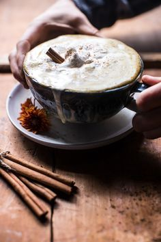 Looking for a delicious healthier version of your favorite latte that won't leave you broke? Try this Coconut Pumpkin Spice Latte from halfbakedharvest.com