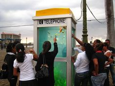 CJWHO ™ (The 'phone booth aquarium' by Benedetto Bufalino...)