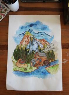 The Forest by Dylan Wyndham Jones, via Behance Behance, Illustrations, Painting, Art, Art Background, Painting Art, Kunst, Illustration, Paintings