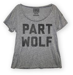 Part Wolf Womens Scoop Neck T-shirt from Buy Me Brunch