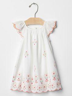 Bright eyelet flutter dress Product Image