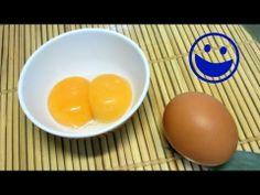 Como separar FÁCIL claras y yemas de huevo. How to separate egg white and yolk