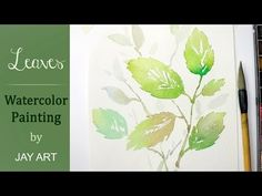 How to paint leaves in watercolors (quick & easy) - YouTube