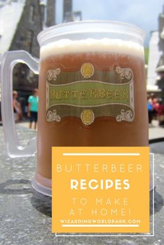 5 butterbeer recipes. #1 seems the most likely of all online recipes to be similar to the warm butterbeer we had at Universal's Harry Potter World.