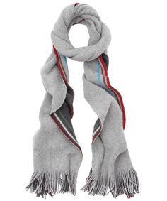 Grey Two-Tone Multi Stripe Scarf, Paul Smith Accessories. Shop more scarves from the Paul Smith Accessories collection online at Liberty.co.uk