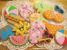 Decorated Summer cookies   Cookie Cheers: Fun Summer Cookies