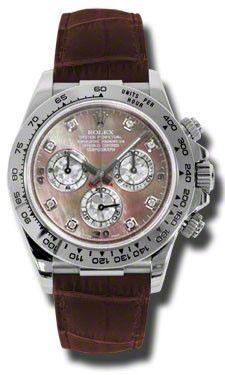 Rolex - Daytona White Gold - Leather Strap #116519DKLTMD
