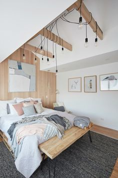 house rules 2017 sean and ella scandinavian master bedroom with wood panelling