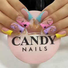 Mickey Nails, Nail Spa, Stiletto Nails, Nail Arts, Short Nails, Pretty Nails, Nail Colors, Nail Designs, Glitter