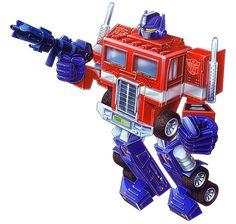 Optimus Prime G1 toy box art.