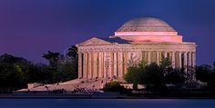 """""""Twilight At The Jefferson Memorial"""" This is a copyrighted photo. If you wish to purchase this photo or any other of my fine art prints, please visit my website at; www.jerryfornarotto.artistwebsites.com"""