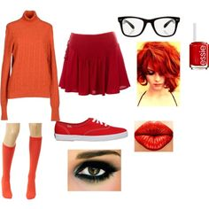 Designer Clothes, Shoes & Bags for Women Scooby Doo Halloween Costumes, Velma Costume, Halloween Inspo, Costume Dress, Halloween Outfits, Haunted Halloween, Halloween Makeup, Diy Costumes, Cosplay Costumes
