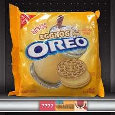 Eggnog Oreos (fake) -- but I want them to be real!