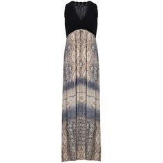 Hale Bob Crochet Maxi Dress - Beige (£330) ❤ liked on Polyvore featuring dresses, beige, bohemian maxi skirts, long skirts, beige maxi skirt, crochet maxi skirt and summer maxi skirts