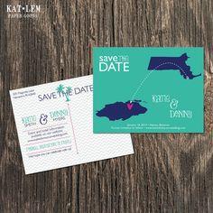 Bahamas  Save the Date  Nassau Atlantis by katleminvitations