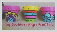 Macetas pintadas a mano, diseños únicos y personalizados by Quiero Algo Bonito!!