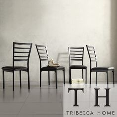 Tribecca Home Darcy II Espresso Contoured Metal Dining Chairs (Set of 4) $146