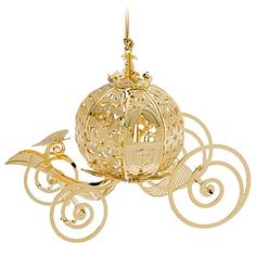 Every Princess' holiday will be a ball with our beautifully detailed Cinderella Coach Ornament. Made exclusively for the Disney Theme Parks by Baldwin®, this collectible Christmas treasure has a glistening gold finish. Disney Christmas Ornaments, Hallmark Ornaments, Noel Christmas, Xmas Ornaments, All Things Christmas, Christmas Decorations, Cinderella Coach, Cinderella Carriage, Cinderella Wedding