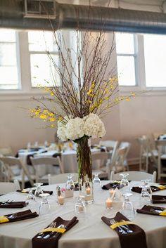 Erin Volante Floral: Yellow fall wedding at Club 1000