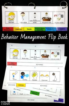Behavior management flip book for your autism classroom or special education program. Using visual supports particularly with students with autism is a best practice and can increase independence and decrease transition difficulties!