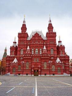 Museu Histórico Nacional, na Praça Vermelha, em Moscou, Russia.I querer visitar aqui uma day.Please verificar o meu site obrigado.  www.photopix.co.nz