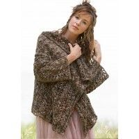 Chautauqua Cardi Crocheted Wrap Pattern | InterweaveStore.com [of course, the yarn this is made with costs over $225 for the project -- WITH a discount. yikes! and you can't even try it on before-hand to see if it looks as good on you as it does on the skinny model.]