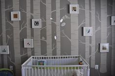 I want to do something like this, but in our kitchen. A birch tree nursery–with a twist | Offbeat Families.