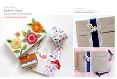 Cute gift ideas for the girl who loves fashion & a vintage-inspired gift wrapping idea for a unique touch.