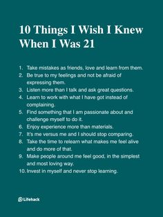 I Wish Everyone Could Take These 10 Advice As Early As They Could…