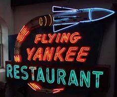 Flying Yankee Restaurant Neon Sign ~ American Sign Museum