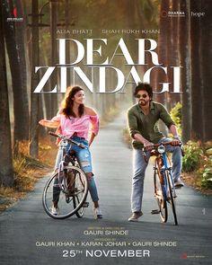 DEAR ZINDAGI(2016) Genç gazeteci Kaira'nın terapisti ile yaşadığı süreci,ilişkilerini izleyeceğimiz filmin başrollerinde ,enerjisi ile kendisini izlemekten zevk aldığımız ve bu filme de enerjisi yansıyan Anuska Sharma ve Shahrukh Khan  yer alıyor.  İmdb puanı:7,7