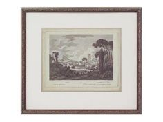 Shop for John Richard Custom Italian Landscape I, GRF-5263A, and other Accessories at Westside Foundry in Atlanta, GA. The Reproduction From An Antique Print Of Italian Landscape Is Matted In Soft Silver. It Is Framed In Narrow Wood Molding With Leaf Motif On Top Of Frame.  30w x 27h (set of 4)