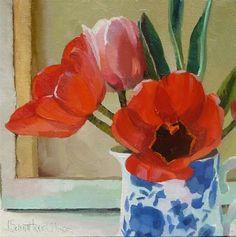 """Red Tulips Series III"" - Original Fine Art for Sale - © Joanna Olson"