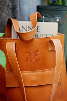 Genuine leather tote shoulder handbag from mat leather by DingoM