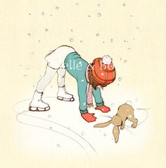 Shall We Skate by belleandboo on Etsy,