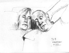 20 min pencil sketch of my Wifes parents sleeping on the sofa. www.anthonygreentree.co.uk